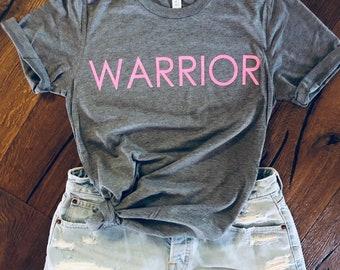 Glitter Warrior Tee - breast, cancer warrior or any warrior!
