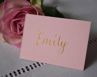 Pale Pink and Gold Place Card