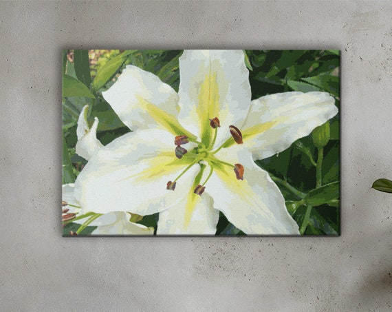 White Lily Canvas Print - for simplistic home decor
