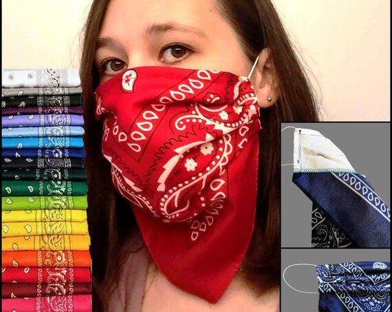 Double Layer Bandana Reusable Face Mask - Durable and Adjustable