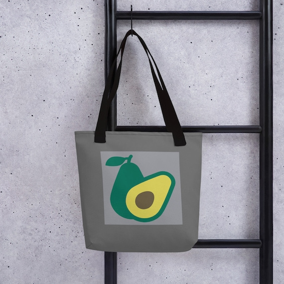 Avocado Tote bag - Canvas Bag with over the shoulder handles