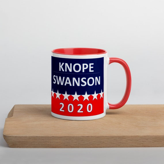 Election 2020 Coffee Mug with Parks and Rec Theme - Knope Swanson Presidential Candidates