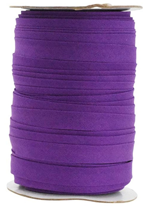 1/2 inch double fold COTTON blend bias tape- 5 yard bundles - great ties for making face masks