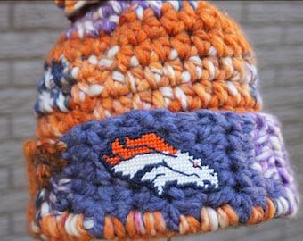 f0d39cf1 Denver broncos yarn   Etsy