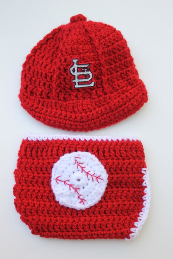 St Louis Cardinals Inspired Baseball Cap Diaper Cover Set Etsy