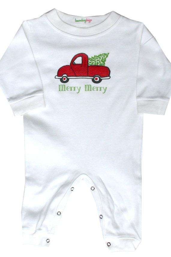 Personalized Long Sleeve Baby Vests Bodysuits Merry Christmas Unisex White Gift