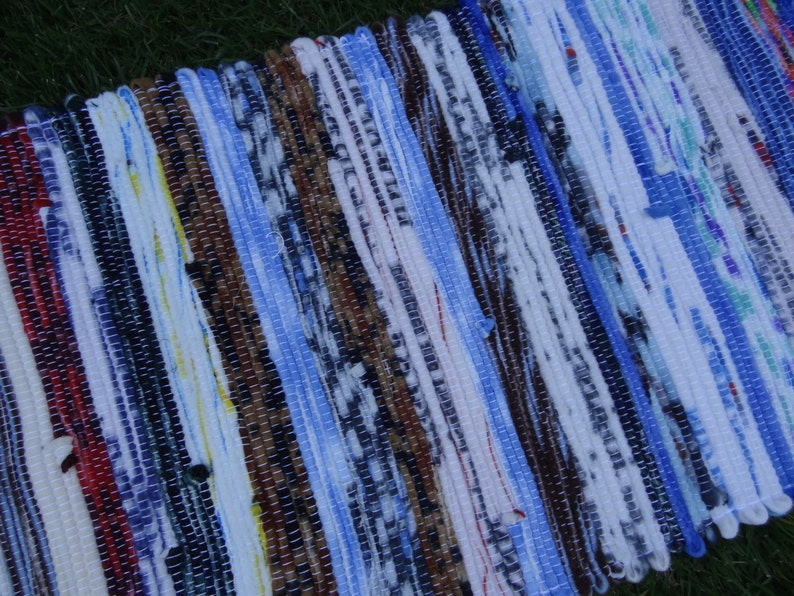 Rug  handwoven rug very soft fleece 19x47 image 0