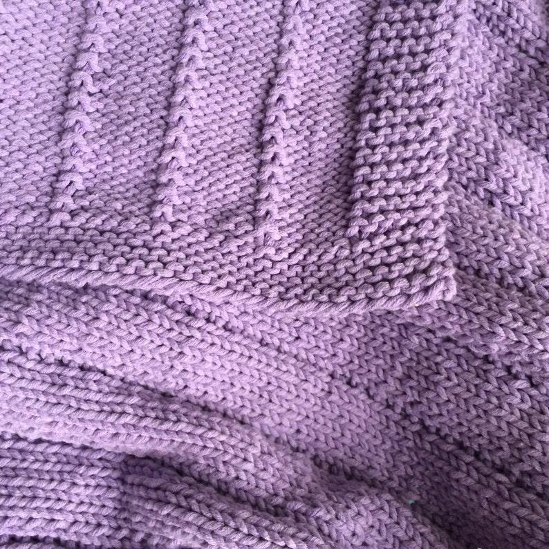 Easy Knit Baby Blanket PATTERN PDF File image 0