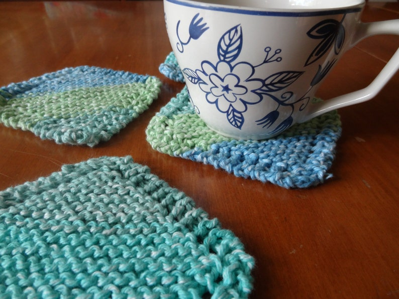 PDF file for knit coaster pattern. Simple Knit Coaster image 0