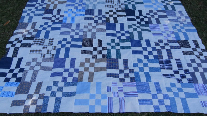 High Tide Quilt pattern instant download PDF file Twin size image 1
