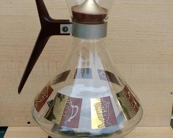 Hot Sale Vintage Inland Genie Bottle Coffee Pot Carafe Glass Platinum Mid Century Modern Other Antique Home & Hearth
