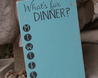 What's for dinner?  Chalkboard menu board