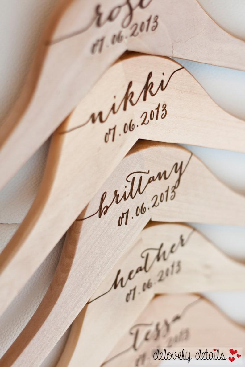 Engraved Bridal Hanger Wood