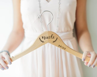 Personalized Bridesmaid Hangers - Wedding Hanger - Bridal Dress Hanger - Engraved Bridesmaid Hanger - Bridesmaid Box - Bridesmaid Proposal