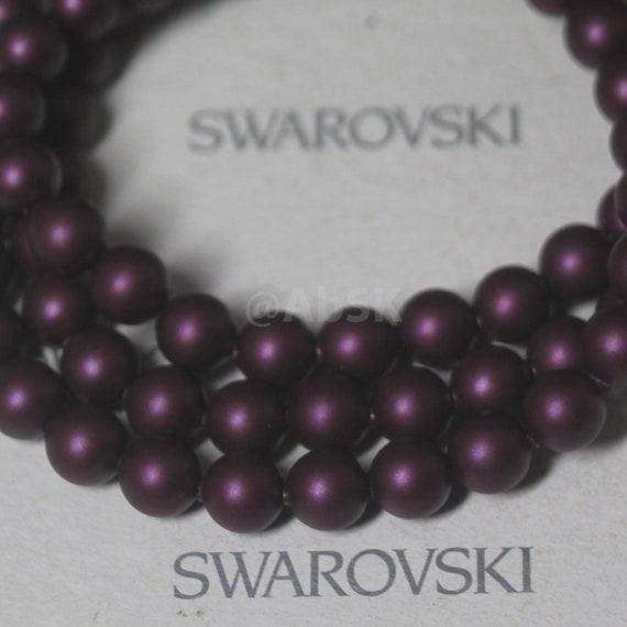 24 pcs Swarovski Element 5810 8mm Round Ball Crystal Pearl Beads Powder Rose