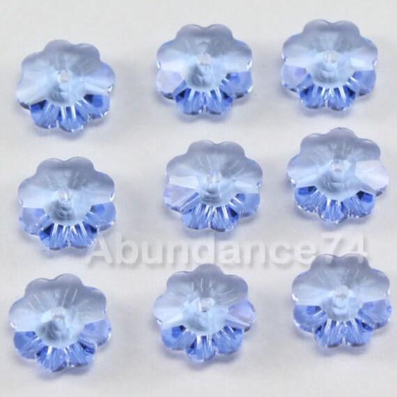 12 pcs Swarovski Crystal 3700 8mm Flower Margarita Lochrose Beads CLEAR