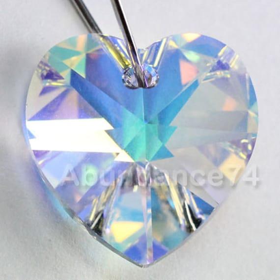 1 piece Swarovski Crystal 6202 18mm Heart Shaped Pendant SAPPHIRE AB