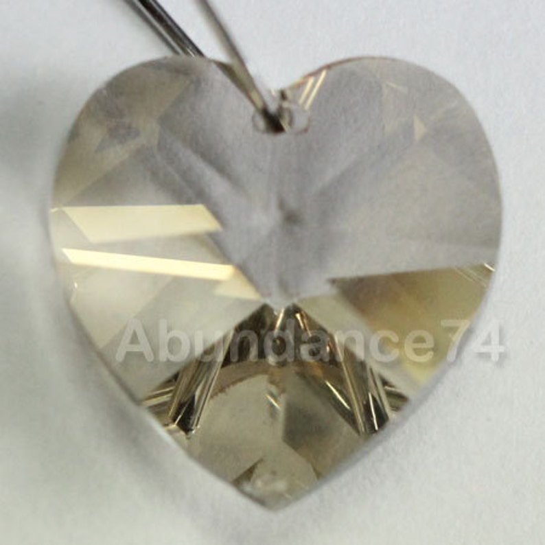 0b9d4127feaef 2 pcs Swarovski Crystal 18mm 6202 Faceted Heart Pendant Silver Shade
