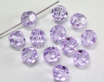 Promotional Item - 120pcs Swarovski Elements 5000 4mm Crystal Round Beads - VIOLET (While Stocks Last)