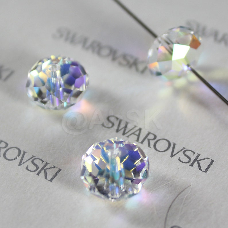 Swarovski Crystal Elements 5305 5mm Spacer Beads Crystal SAPPHIRE Pick Quantity