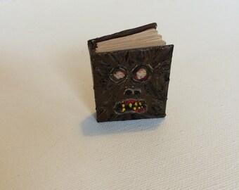 Miniature Handmade Necronomicon Blank Book