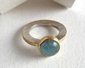 Aquamarine cabochon ring ...