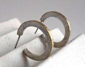Open hoop circle earrings...