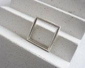 Silver simple square ring...
