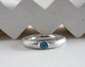 Topaz skye blue ring, blu...