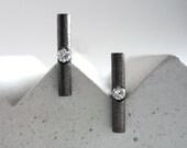 White diamond and black s...