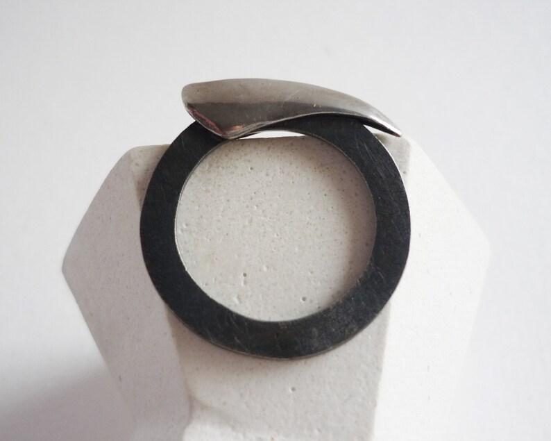 Flower of paradise silver ring for women flower lovers image 0