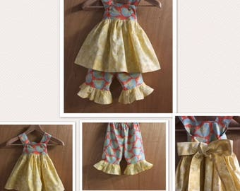 Birdie Spring/Summer Top and Ruffle Capris, size 2t