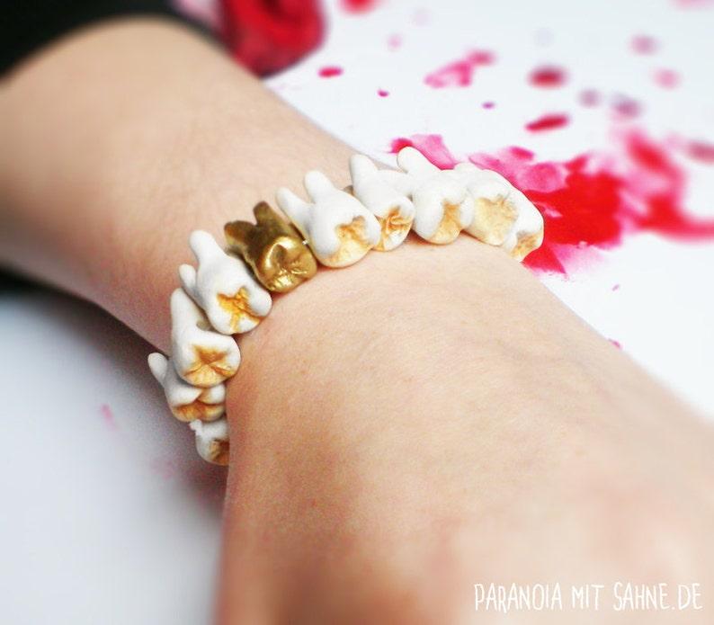 ORIGINAL Human Teeth Bracelet image 0