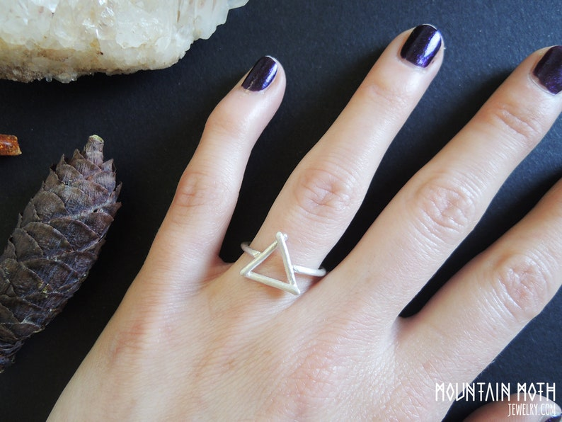 Alchemy Symbol of Water and Fire Elemts Mystical Triangle Rune image 0