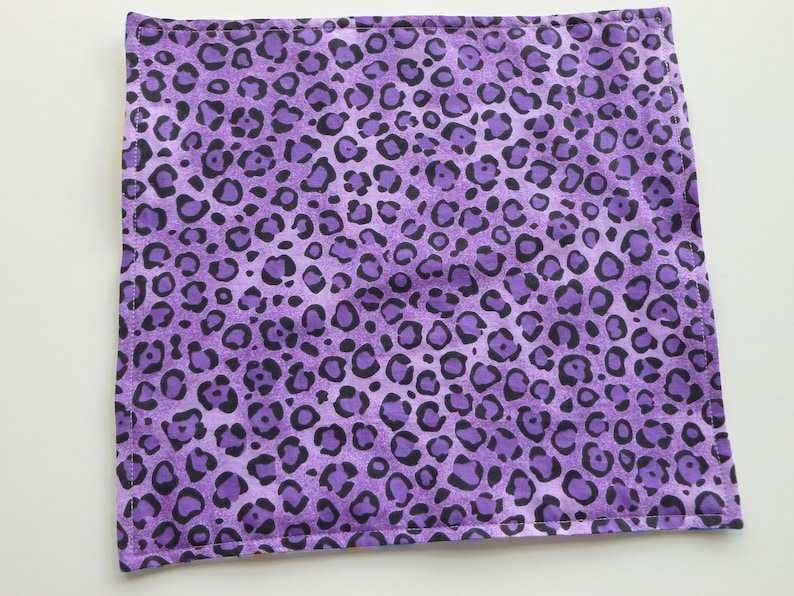 Purple separation blankets for puppies or kittens going to new home for first time; blanket for puppies or kittens separated from mother