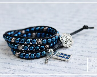 Doctor Who-Inspired Triple Wrap Bracelet