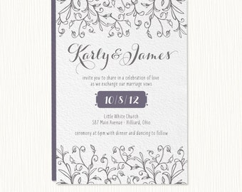 Lovely Wedding Invitation  PRINTABLE