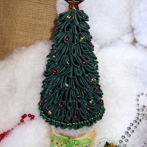 Albero Di Natale Kanzashi.Albero Di Natale Rosso Kanzashi Decorazione Della Casa Etsy