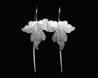 Sterling Silver Vine Leafs Earrings