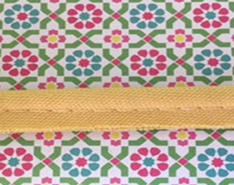 90 PERCENT OFF! 5 Yards Of Yellow 100% Cotton Fabric Piping Trim (Made In USA)