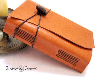 Travel Journal, Leather Notebook. MEDITATIO A6 size