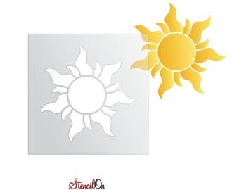 d02e9966313 Tangled Sun Stencil Craft and Wall Stencil - Reusable 7 mil mylar - Sizes  2