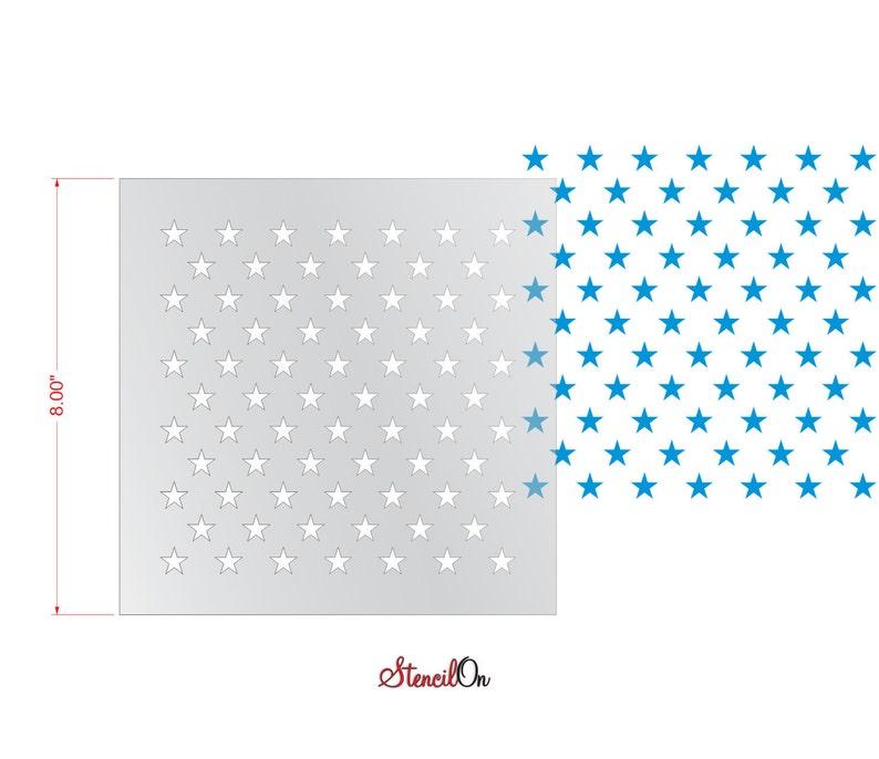 8 x 8-7 mil Reusable Clear Mylar 72  Stars Craft Stencil