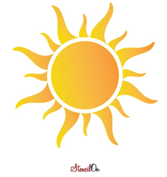 Sun Stencil Craft And Wall Stencil Sizes 2 To 18