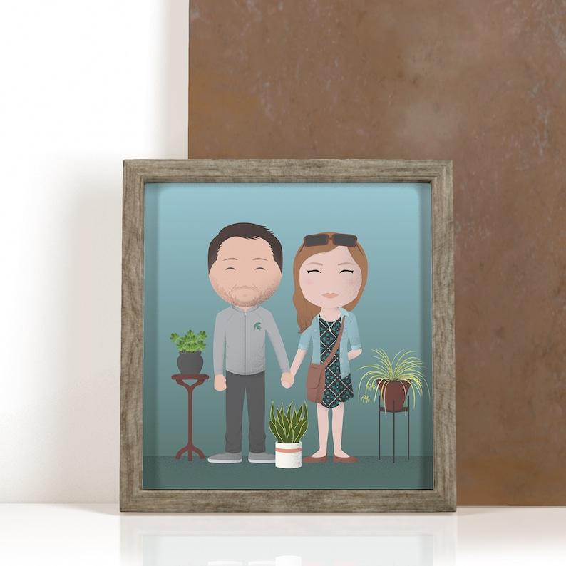 Illustrated Custom Family Portraits Cute Stylized Caricatures image 1