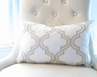 Gold Pillows, Trellis Lumbar Pillow,12x18in Gold Decorative Pillows, Chair  Pillows, Pillow Sets,Gold Pillow Cover,Gold Cushion Cover,