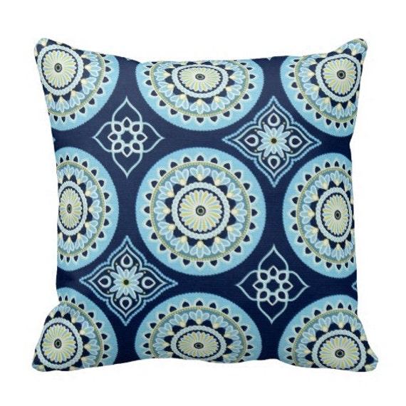 Outdoor Pillows Blue Outdoor Pillows Outdoor Throw Pillow Etsy