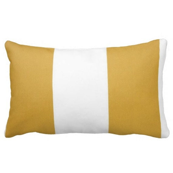 Lumbars Yellow Outdoor Pool Pillows Decorative Striped Etsy