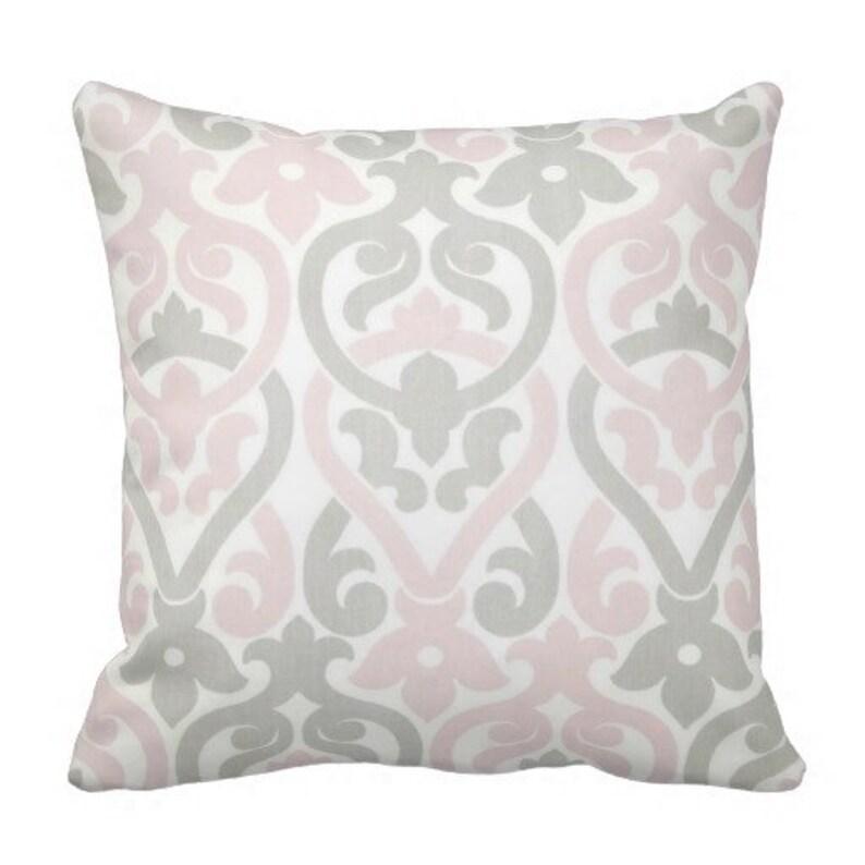 Merveilleux Accent Pillows, Pillow Covers, Rocking Chair Pillow, Pink Grey Pillows,  Euro Shams, Bed Pillows, Chair Pillows, Kids Room, Blush Pink Pillow