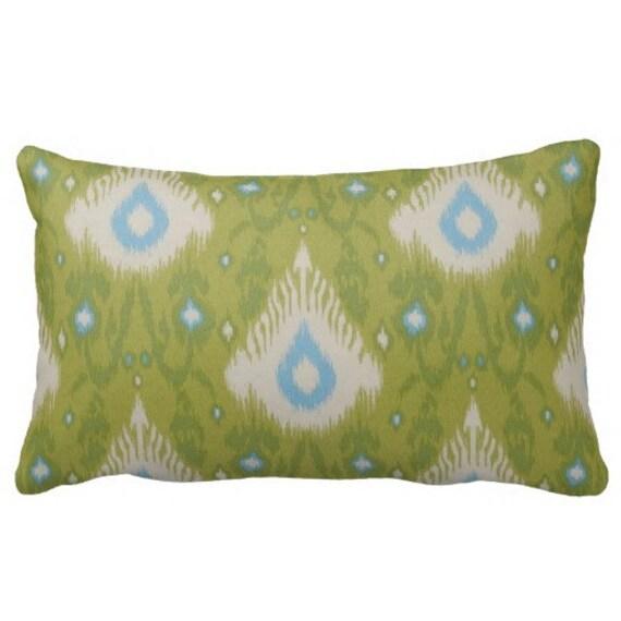 Green Ikat Pillowsgreen Outdoor Pillowsthrow Pillows Pillow Etsy